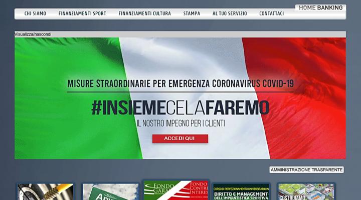 Credito Sportivo: al via le procedure per i mutui senza garanzie e a tasso zero
