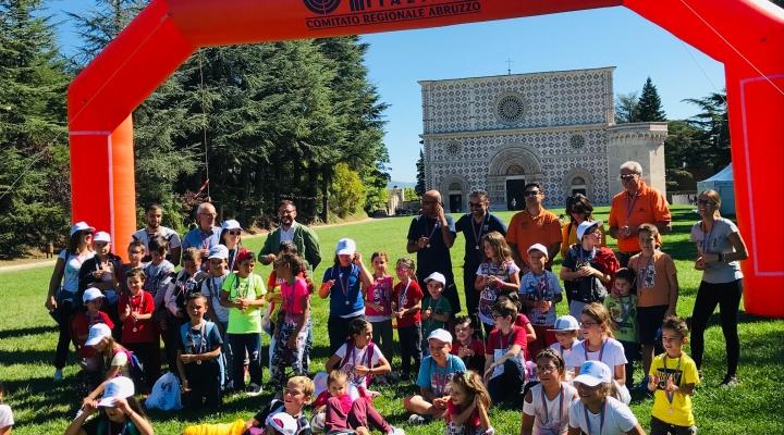 Giovani entusiasti nel week-end sportivo di Collemaggio