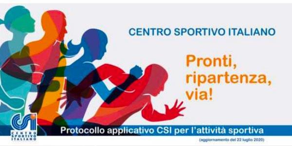 Il nuovo Protocollo applicativo del CSI per l'attività sportiva