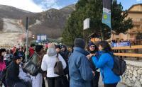 Gara di sci rinviata, studenti all'assalto del Castello Piccolomini di Celano