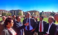L'Aquila, la visita ufficiale di Malagò